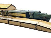 OO/HO Gauge Double Platform & Canopy with On/Off Ramps MDF Scenery