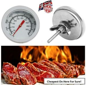 UK! Temperature Thermometer Gauge Barbecue BBQ Grill Smoker Pit Thermostat BBQ