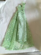 "TONNER Tyler Wentworth 16"" Vinyl DOLL Clothes Long Mesh Green Doll DRESS ONLY"