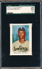 1950-51 Toleteros Willard Brown SGC 20 = PSA 1.5 Rare Negro League HOFer card