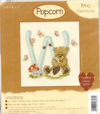 Popcorn Alphabet Counted Cross Stitch Kit PA42 Letter W