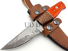 UD CUSTOM MADE FIXED BLADE 1095 DAMASCUS ART HUNTER FULL TANG SKINNER KNIFE 376