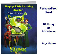 Personalised Shrek The Musical Show Ticket Wallet Card - Birthday, Gift etc.