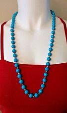 Baby Blue Simulated Freshwater Pearl w/ Silver Small Bead Spacer Necklace