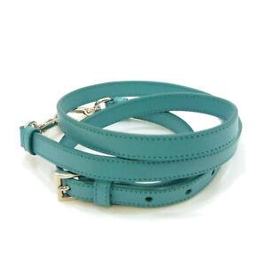 Authentic PRADA Adjustable Shoulder Strap Turquoise Leather #S408009