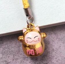 Fortune Lucky Beckoning Cat Maneki Neko Keyring Keychain Key Ring Chain Gift K A