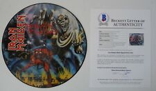 Iron Maiden Number Of The Beast X5 Band Signed Picture Disc LP BECKETT Certified