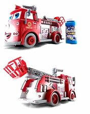 Fire Engine Truck Bubble Machine Blower Solution Birthday Party Bubbles Toy
