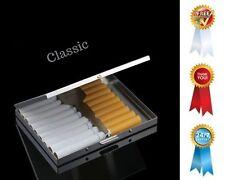 Slim Cigarette Case Metal Crush Proof Secure Holder Durable Comfortable Box