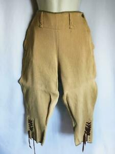 """Vintage 1940s Land Army Trousers Breeches Beige cord 28""""  waist"""
