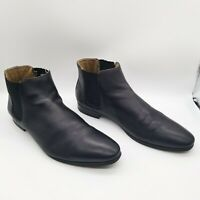 Aldo Chelsea Leather Boots Men Black Slip On US 12