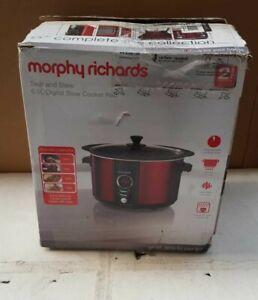 Morphy Richards Sear Stew Digital Slow Cooker 6.5L 461012 Red Slow-Cooker 240V