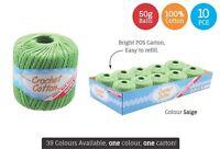 10 x Super Soft Crochet Cotton Ball 50g Wool Yarn Saige NEW (WIN-087)