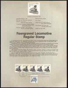 US. SP754. 2226. 2c. Locomotive 1870s, Transportation Coil. Souvenir Pages 1987