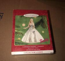 2001 Celebration Barbie New Hallmark Keepsake Special Holiday Ornament - New