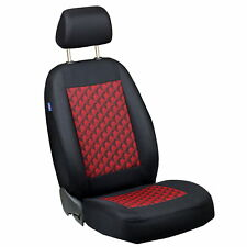 Schwarz-rot Effekt 3D Sitzbezüge für SKODA FABIA Autositzbezug FAHRERSITZ