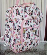 Betsey Johnson French Bulldog Floral Backpack & Wristlet Travel School Bag NWT