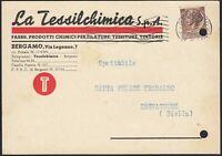 AA6624 La Tessilchimica - Prodotti chimici per filatura - Bergamo 1957