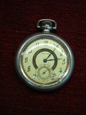 Vintage Waltham Open Face Pocket Watch With 12s 7J Swing Out Movement