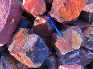 Jaspis, rot, aus Namibia, 1 kg, Rohsteine (Natur!)