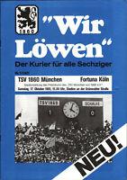 II. BL 81/82 TSV 1860 München - SC Fortuna Köln, 17.10.1981, Wir Löwen