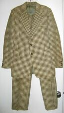 MENS PLAID SUIT Linen/Cotton MIAMI BEACH EMBASSY ROW VINTAGE 1970's Small/Med.
