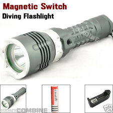 Scuba Diving 1800Lm Cree XM-L T6 LED 100m Waterproof 18650 Flashlight Torch Lamp