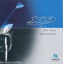 Piaggio X9 Evolution 500 125 Prospekt 2003 brochure Broschüre Motorroller Italy