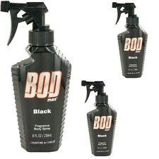 3 x   Bod Man  Black  Body Spray 8 - 8.0 oz by Parfums De Coeur for Men LOT
