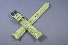 16mm Lizard Green Genuine Leather Watch Band,Strap,Interchangeable,Quick Release