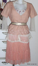 NOA NOA Bluse Jacke Shirt Basic Linen M 38 Cinnabar rosa Leinen blouse cotton