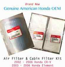 Genuine OEM Honda 2002-2006 CR-V & 2003-2006 Element Engine Air & Cabin Filter