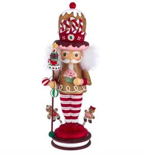 "NIB $139 Kurt Adler 16.5"" Hollywood Gingerbread King Christmas Nutcracker"