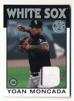 YOAN MONCADA 2021 TOPPS 1986 GAME-USED JERSEY RELIC CHICAGO WHITE SOX
