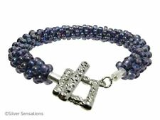 Alloy Silver Plated Beaded Costume Bracelets