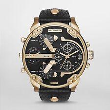 Diesel Original DZ7371 Mr Daddy 2.0 Black Leather Strap Watch