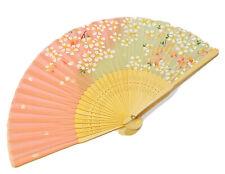 Chinese Japanese Cherry Blossom Flower Design Hand Folding Fan