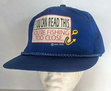 VTG Funny Fishing Snapback Trucker Hat Cap If You Can Read This You are Fishing