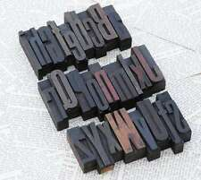 "A-Z mixed alphabet 2.44"" letterpress wooden printing blocks wood type Vintage"