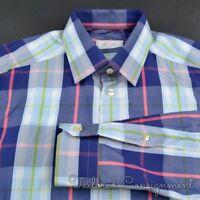 ETON Colorful Plaid Check 100% Cotton SLIM FIT Luxury Dress Shirt - 15.5