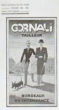 33 BORDEAUX CORNALI TAILLEUR PUBLICITE 1937
