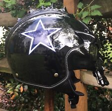 Custom Dallas Cowboys Football IV2 Skull Motorcycle Helmet Size XL NEW!!