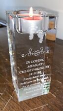 Memorial Crystal Tealight candle Holder