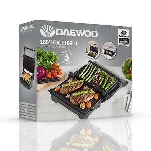 Daewoo 180° Health Grill 1200W Cool Touch Handle Non-Stick Tray