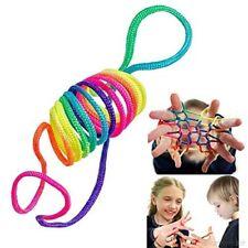 Rainbow Rope Jeu doigt Jeu corde Ztringz