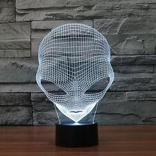 Cool 3D Alien Shape LED USB Lamp Night Light Christmas Gift Room Decoration