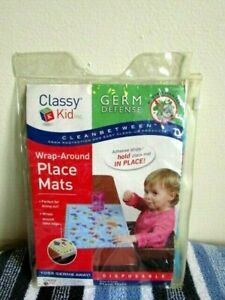 Classy Kid Germ Defense Wrap Around Disposable Place Mats