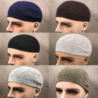 EG_ Breathable Men's Skull Cap Muslim Islamic Prayer Hat Topi Kufi Head Wear Uti
