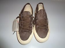 SUPERGA WOMEN'S BROWN SUEDE FASHION SNEAKER SZ 5M NEW WITH TAG