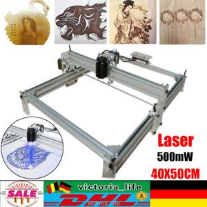 CNC Laser Graviermaschine Gravurmaschine Desktop Graviergerät DIY 500mW 40X50CM